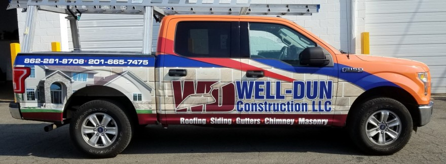 Ford pick up truck wrap, design, installation