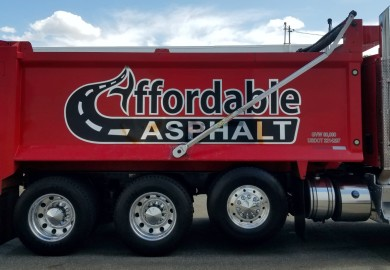 Affordable Asphalt paving dump truck graphics