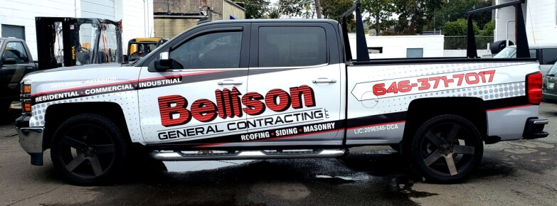Bellison Chevy pickup truck wrap