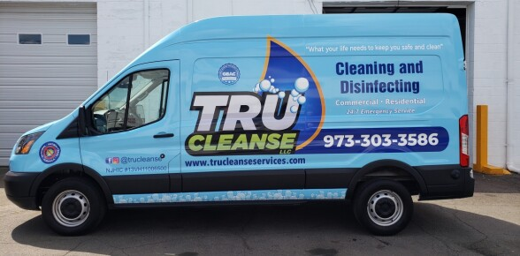 Tru Cleanse Ford transit wrap and design