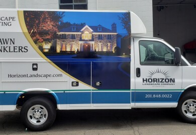 Horizon landscaping partial wrap