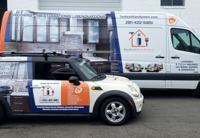 Hudson handyman vehicle wraps