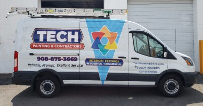 Tech painting van graphics and decals
